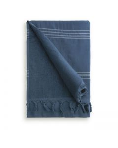 Byrklund hamamdoek - blauw - 90x170 cm – katoen