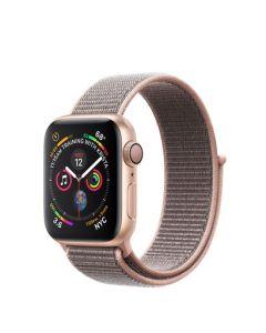 Apple Watch series 4 - 40mm - goud - rozenkwarts geweven sportbandje