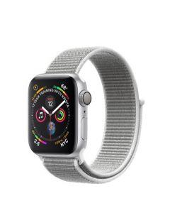 Apple Watch series 4 - 40mm - zilver - schelpenwit geweven sportbandje