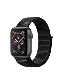Apple Watch series 4 - 40mm - spacegrijs - zwart geweven sportbandje