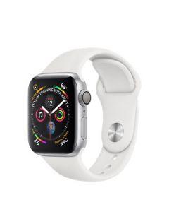 Apple Watch series 4 - 40mm - zilver - wit sportbandje