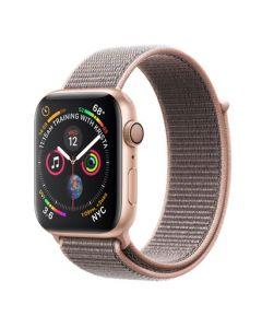 Apple Watch series 4 - 44mm - goud - rozenkwarts geweven sportbandje