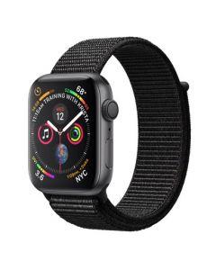 Apple Watch series 4 - 44mm - spacegrijs - zwart geweven sportbandje
