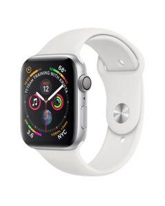 Apple Watch series 4 - 44mm - zilver - wit sportbandje