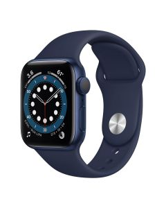 Apple Watch Series 6 - 40mm - Blauw - blauw sportbandje