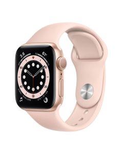 Apple Watch Series 6 - 40mm -Goud - roze sportbandje