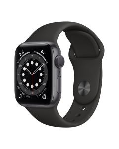 Apple Watch Series 6 - 40mm - Spacegrijs - zwart sportbandje