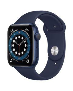 Apple Watch Series 6 - 44mm - Blauw - blauw sportbandje