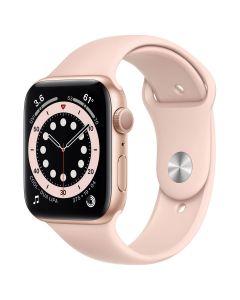 Apple Watch Series 6 - 44mm - Goud - rozenkwarts Sportbandje