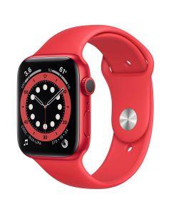 Apple Watch Series 6 - 44mm - Rood - rood sportbandje
