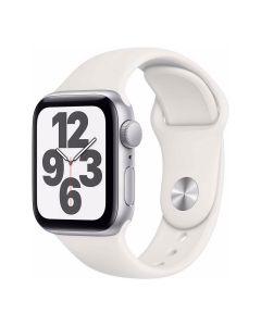 Apple Watch SE - 40mm - Zilver - wit sportbandje