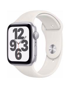 Apple Watch SE - 44mm - zilver - wit sportbandje