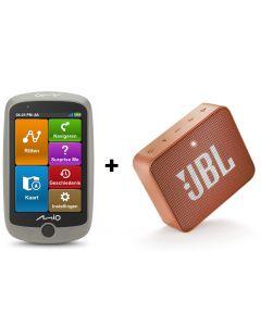 MIO Cyclo Discover Full EU - GPS fietsnavigatie incl. JBL GO2 bluetooth speaker